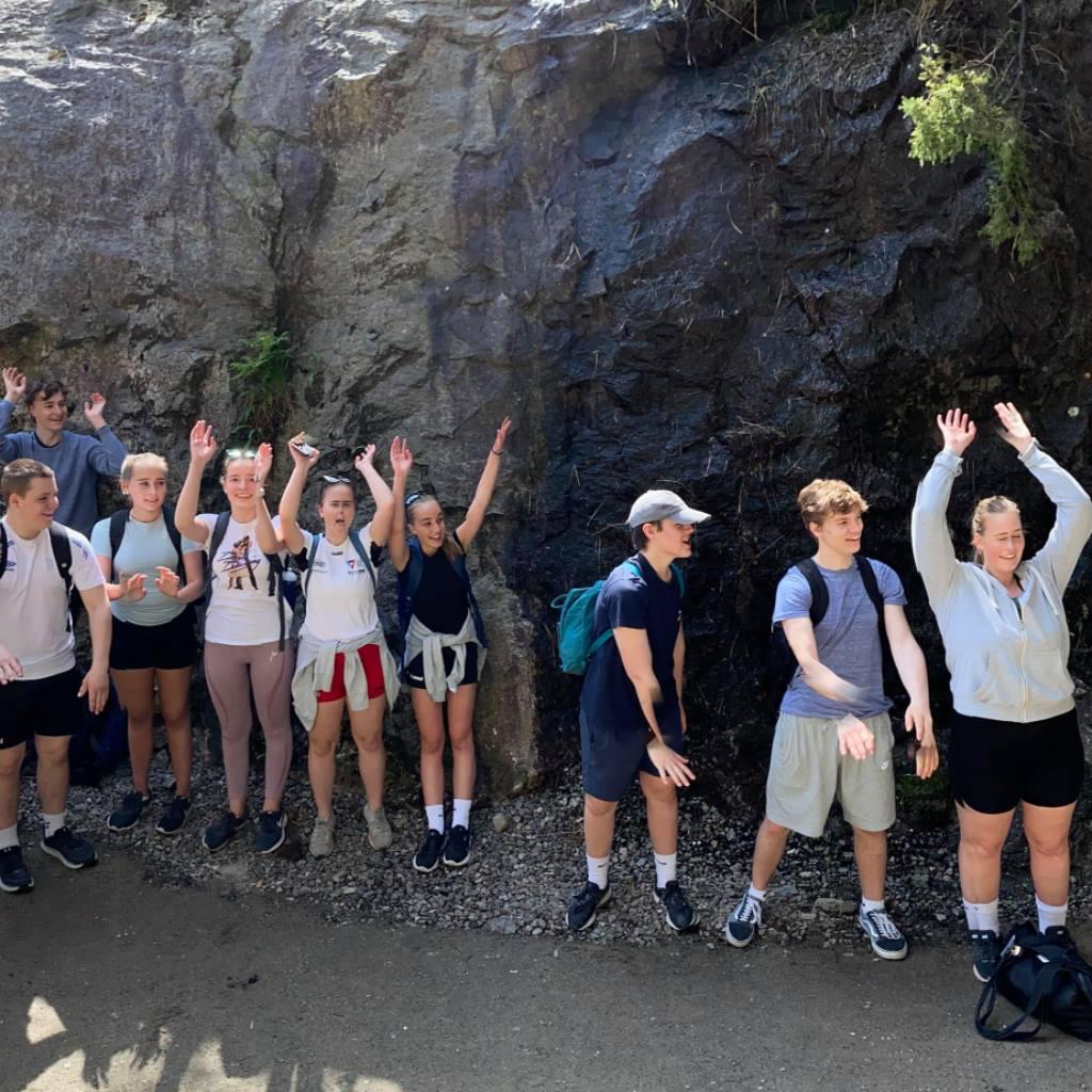 Vågen upper secondary school visit Magma Geopark